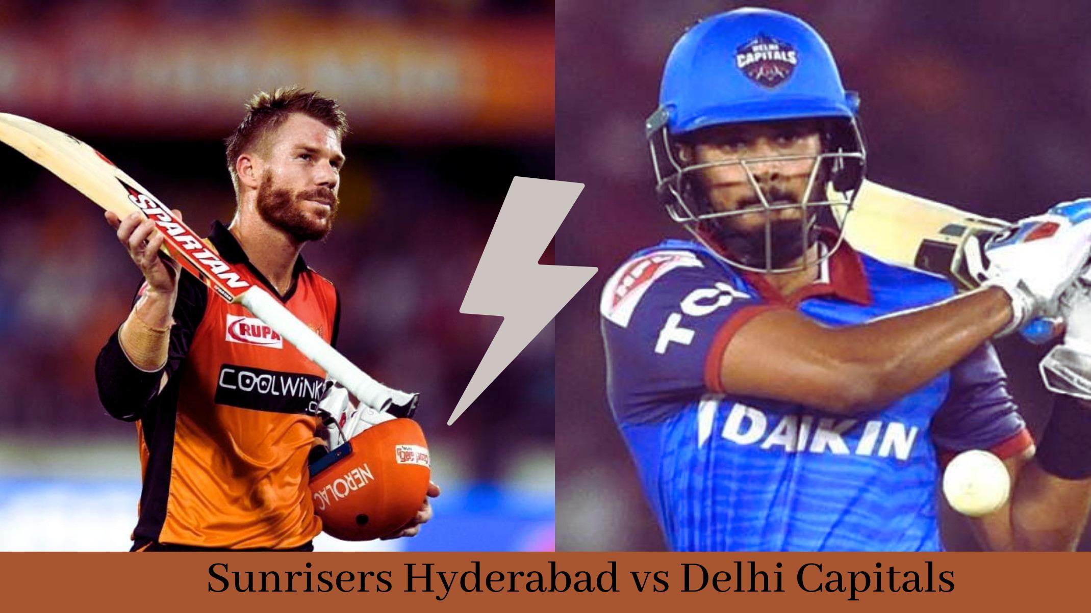 Sunrisers Hyderabad vs Delhi Capitals - match 33