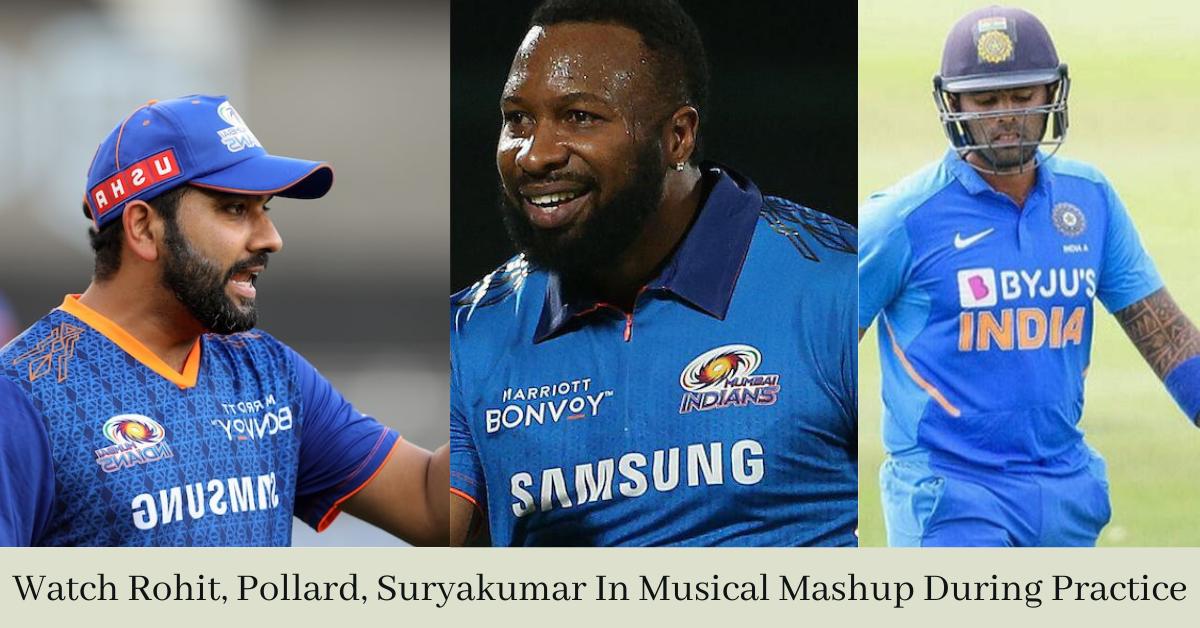Watch Rohit, Pollard, Suryakumar In Musical Mashup During Practice